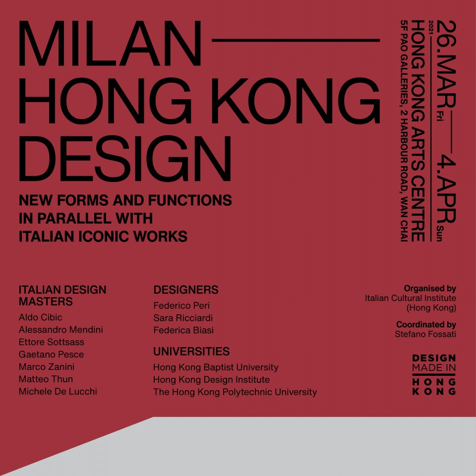 Milan-Hong Kong design, new forms and functions in parallel with Italian iconic works